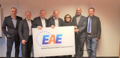 EAE's board (from left): Jacek Kulig (SSO/Poland), Ralf Pasker (Managing Director), Ruud Van Eersel (IVP ETICS/Belgium), Alessandro Siragusa (Cortexa/Italy), Prof. Zuzana Sternova (OZ ZPZ/Slovak Republic), Christoph M. Stolz (VDPM/Germany), Dr. Clemens Hecht (QG WDS/Austria).
