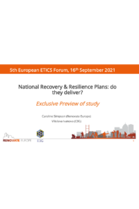 National Recovery & Resilience Plans: do they deliver?