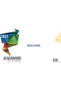 EAE Award 2021 Nominees & Winners