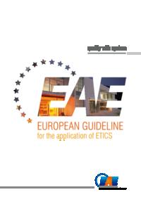 European Application Guideline for ETICS