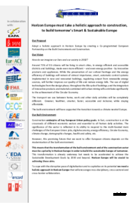 Joint ECCREDI position: Priorities for the construction sector (11/04/2019)