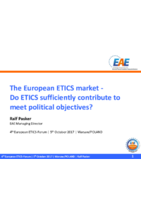 The European ETICS market - Do ETICS sufficiently contribute to meet political objectives?