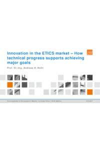 Innovation in the ETICS market – How technical progress supports achieving major goals