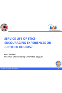 SERVICE LIFE OF ETICS - ENCOURAGING EXPERIENCES OR JUSTIFIED DOUBTS?