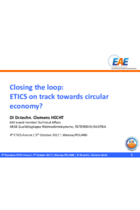 Closing the loop: ETICS on track towards circular economy?