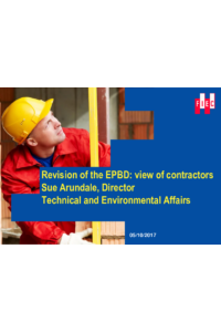 Revision of the EPBD: view of contractors Sue Arundale, Director Technical and Environmental Affairs