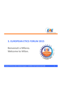 3. EUROPEAN ETICS FORUM 2015 - Welcome to Milan