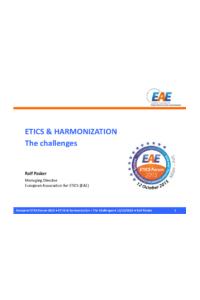 ETICS & HARMONIZATION - The challenges