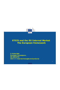 ETICS and the EU Internal Market