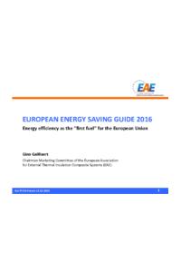 EUROPEAN ENERGY SAVING GUIDE 2016