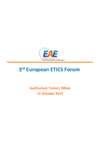 The construction & ETICS MARKET- News & information