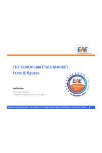 THE EUROPEAN ETICS MARKET - Facts & figures